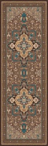 فرش مدما - فرش شمیسا - فرش کلاسیک - فرش قهوه ای - فرش سایز ۱ متر در ۳ متر - فرش سه متري - فرش 3 متري - فرش عرض يک متر - فرش طول سه متر