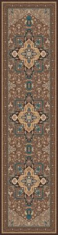 فرش مدما - فرش شمیسا - فرش کلاسیک - فرش قهوه ای - فرش سایز ۱ متر در ۴ متر - فرش چهار متري - فرش 4 متري - فرش عرض يک متر - فرش طول چهار متر