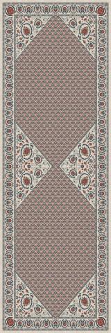 فرش مدما - فرش تاجیک - فرش کلاسیک - فرش کرمی - فرش سایز ٠.۸٠ متر در ۲.۴ متر - فرش هشتاد سانت در دو متر و چهل سانت - فرش 80 سانت در 2 متر و 40 سانت - فرش عرض هشتاد سانت - فرش طول دو متر و چهل سانت