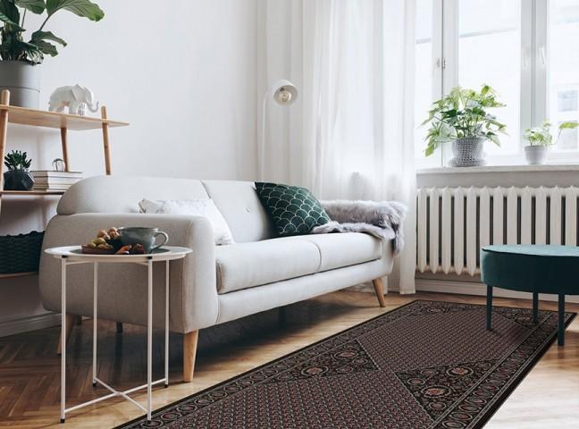 فرش مدما - فرش تاجیک - فرش کلاسیک - فرش مشکی - فرش سایز ٠.۸٠ متر در ۲.۴ متر - فرش هشتاد سانت در دو متر و چهل سانت - فرش 80 سانت در 2 متر و 40 سانت - فرش عرض هشتاد سانت - فرش طول دو متر و چهل سانت