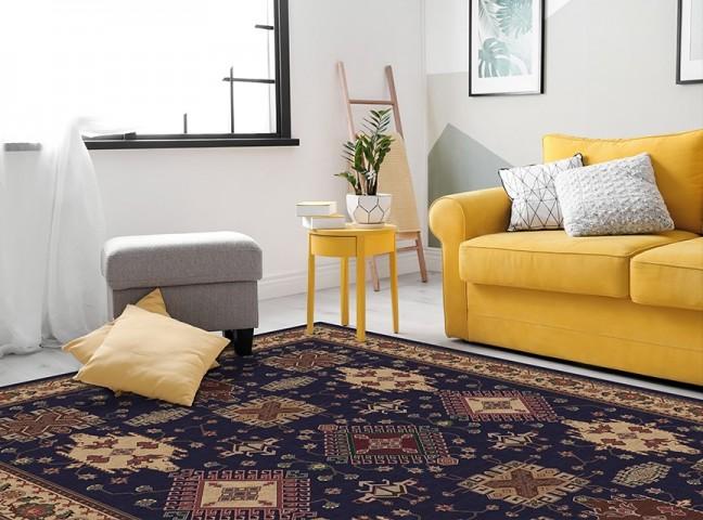فرش مدما - فرش ارمغان - فرش کلاسیک - فرش سرمه ای - فرش سایز ۲.۲۵ متر در۳.۴ متر - فرش هشت متري - فرش 8 متري - فرش عرض دو متر و بيست و پنج سانت - فرش طول سه متر و چهل سانت