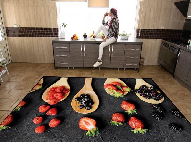 فرش مدما - فرش تمشک - فرش آشپزخانه - فرش مشکی - فرش سایز ۲.۲۵ متر در۳.۴ متر - فرش هشت متري - فرش 8 متري - فرش عرض دو متر و بيست و پنج سانت - فرش طول سه متر و چهل سانت