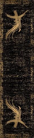 فرش مدما - فرش مولانا - فرش خط نقاشی - فرش مشکی - فرش سایز ٠.۸٠ متر  در ۳.۲ متر - فرش هشتاد سانت در سه متر و بيست سانت - فرش 80 سانت در 3 متر و 20 سانت - فرش عرض هشتاد سانت - فرش طول سه متر و بيست سانت