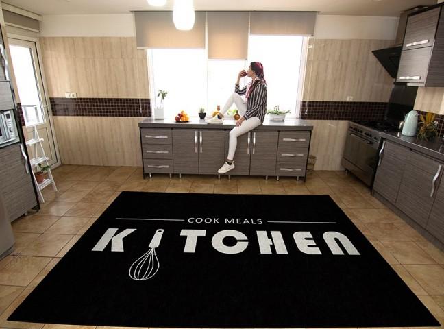 فرش مدما - فرش نمونه - فرش آشپزخانه - فرش مشکی - فرش سایز ۲.۲۵ متر در۳.۴ متر - فرش هشت متري - فرش 8 متري - فرش عرض دو متر و بيست و پنج سانت - فرش طول سه متر و چهل سانت