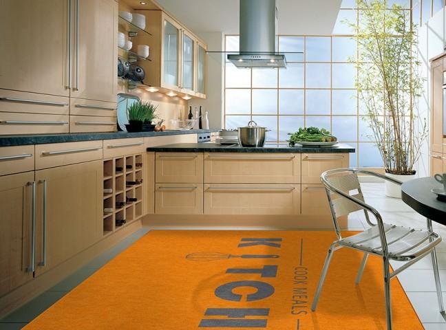 فرش مدما - فرش نمونه - فرش آشپزخانه - فرش نارنجی - فرش سایز ۲.۲۵ متر در۳.۴ متر - فرش هشت متري - فرش 8 متري - فرش عرض دو متر و بيست و پنج سانت - فرش طول سه متر و چهل سانت