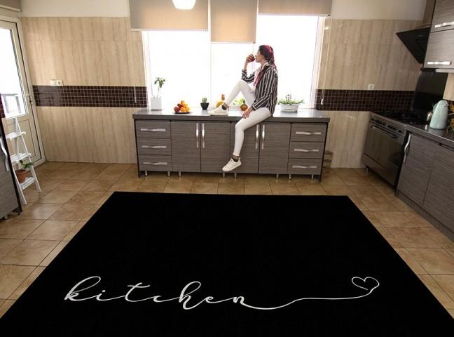 فرش مدما - فرش لاوین - فرش آشپزخانه - فرش مشکی - فرش سایز ۲.۲۵ متر در۳.۴ متر - فرش هشت متري - فرش 8 متري - فرش عرض دو متر و بيست و پنج سانت - فرش طول سه متر و چهل سانت